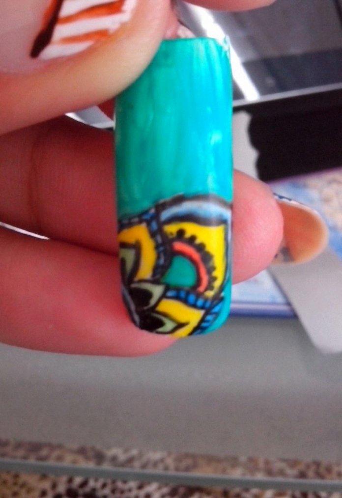 Nail art sur capsule