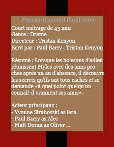 Films : Person of interest dans le rôle de Lara (2009) on beautiful-mattyvonne.sky