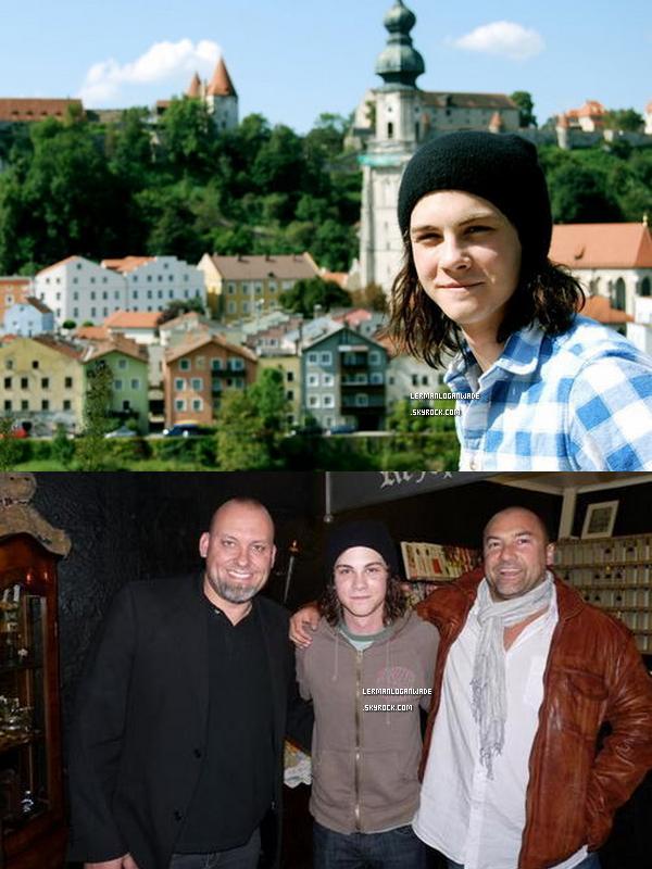 . Logan sur les tournage des 3 mousquetaires avec Luke Evans, date inconnue..
