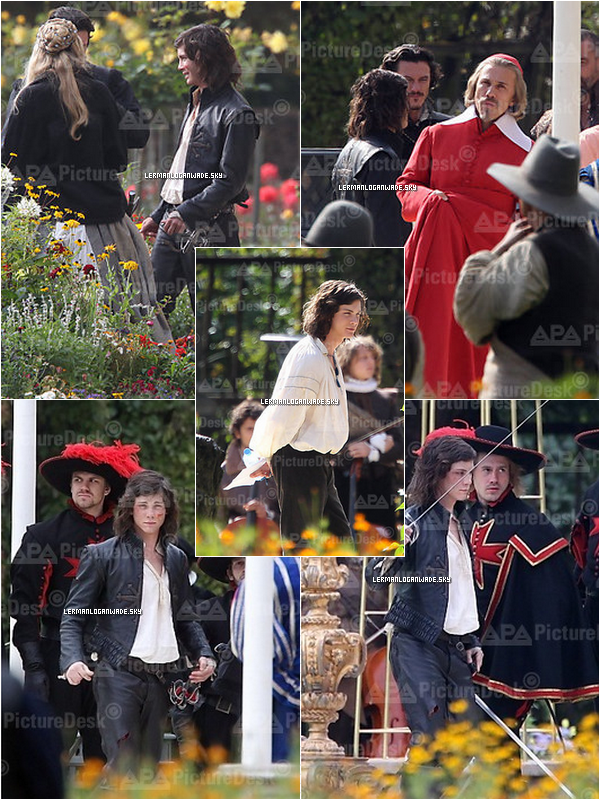 . 19/08/2010..Trois photos de Logan & Orlando Bloom se rendant aux Bavaria Film Studios (All).
