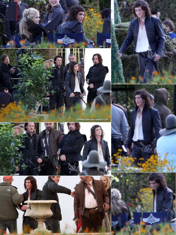 * 18 & 21/09/2010..Vous connaissez le refrain, Logan sur le set des 3 mousquetaires !*