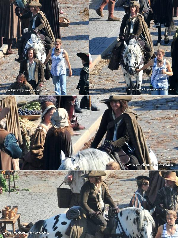* ____23/09/2010_Logan sur le dos d'un cheval, sur le set des 3 mousquetaires ! Il est vraiment magnifique !  ____06/09/2010_Voici deux photos de Logan lorsqu'il venait d'arriver sur le set en Allemagne ! [ Photos ] *