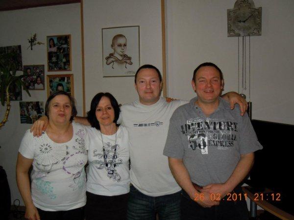 Tante Solange, maman, mon oncle Marc et mon oncle Walthere