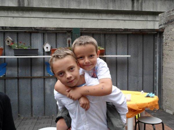 Mes 2 fils Dylan et Bryan