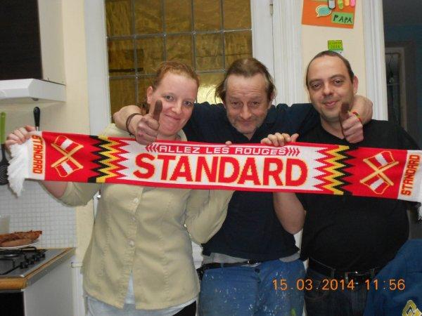 La Bruxelloise, le Hutois et le liègeois derrière les couleurs du Standard