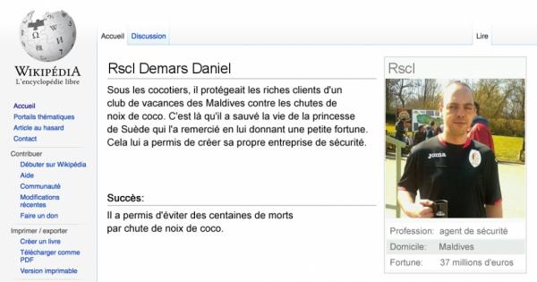 Ma page Wikipédia ;-)