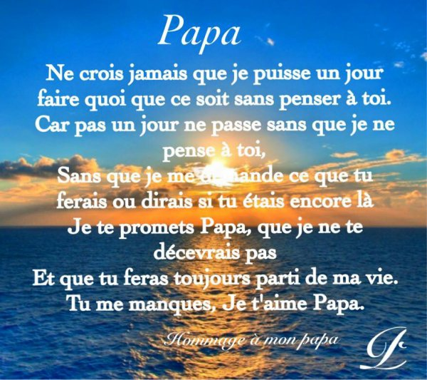 (09.01.1955 - 25.06.1998) - 18 ans déjà - RIP papa - Repose en paix
