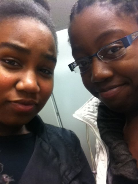 just chilling me and my sis!!