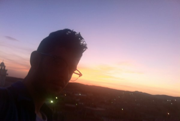 Me and beautiful sunset