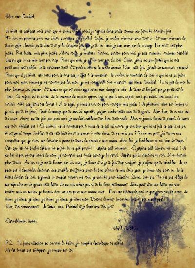Lettre de Mearl à Danhiel