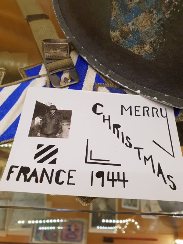 Merry Christmas 1944 France 3rd Infantry Division Vosges Alsace