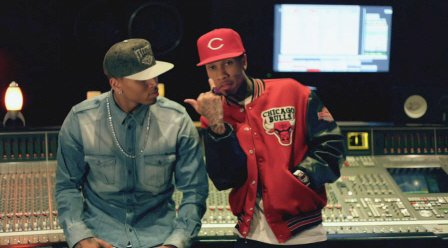 » Tyga & Chris Brown @ Power106 Cali Christmas show
