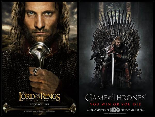 Game Of Thrones VS Il Signore Degli Anelli