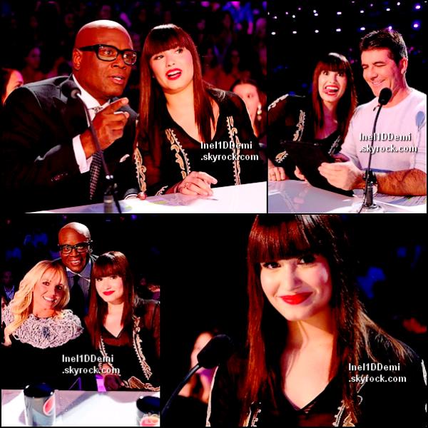Demi au Live Show d'X Factor. Comment trouvez-vous Demi Brune ?