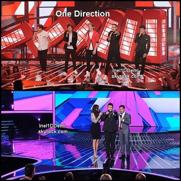 Demi au 4° Live Show de X-Factor. Vous apercevrez les One Direction .