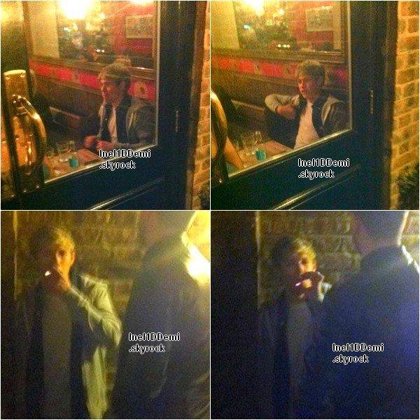 Niall a été repéré dans un pub la nuit du 15 Novembre, de fumer et de boire avec des amis.