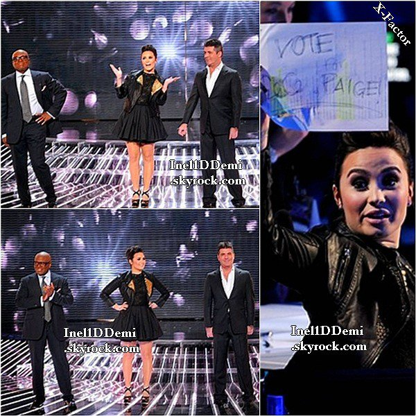Demi au 5° épisode d'X-Factor. Plus un superbe PhotoShoot . TOP/BOF/FLOP ?
