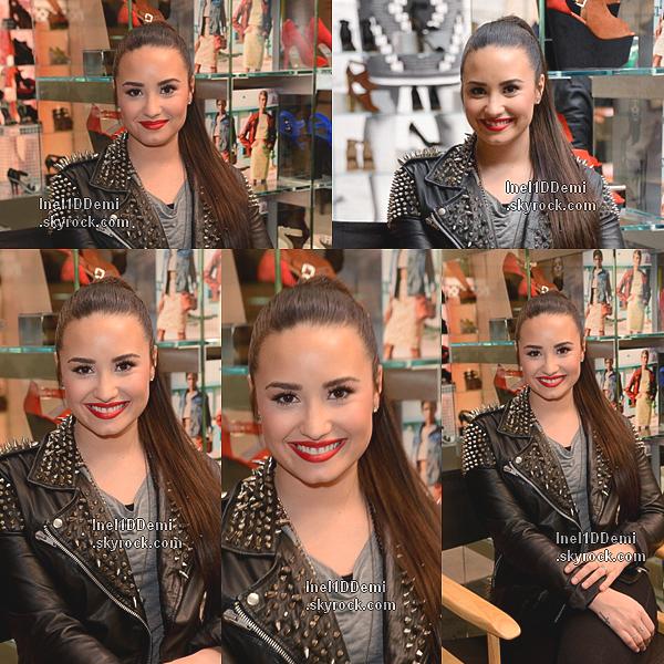 Demi Lovato à l'ouverture de Topshop Topman à Los Angeles le 14 février 2013