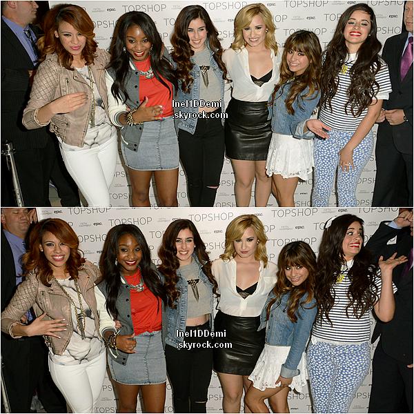 Le 13 Mai, Demi était présente à l'événement de Top Shop avec les Fifth Harmony, à New York.