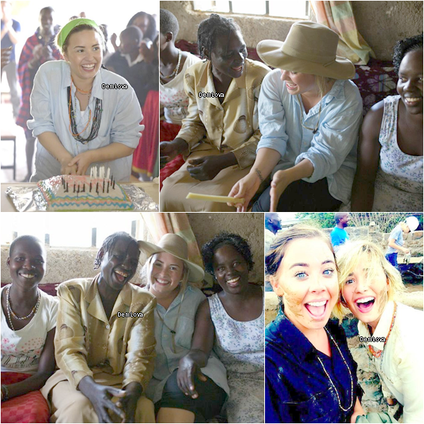 Voici les premières photos de Demi faisant du bénévolat au Kenya, en Afrique.