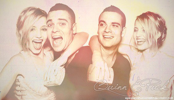 . QuinnPuckerman ta source sur Quinn Fabray et Noah Puckerman de Glee ..