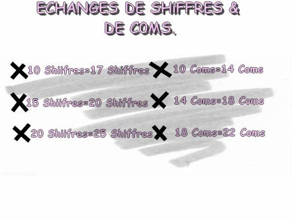 Echanges De Shiffres && de coms  =D