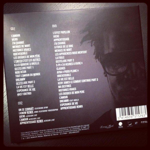 Lundi sortie de la réédition Deluxe de Noir D**** !!  2 CD avec des titres exclusifs, des remix, des versions live et le DVD de mon 1er Olympia ! Tout ca pour vous mes gesteurs, et déjà en précommande : https://itunes.apple.com/fr/album/noir-d****-edition-collector/id567492714