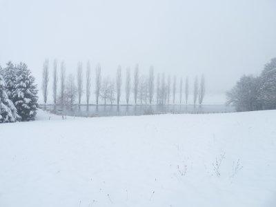 voila l'alsace sous la neige