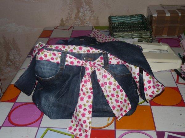sac en jeans je fait sur commande