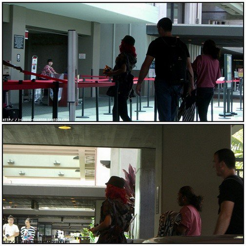 16/09/2010 : Nouvelles photos de la Miss Rihanna à l'aeroport de Honolulu.