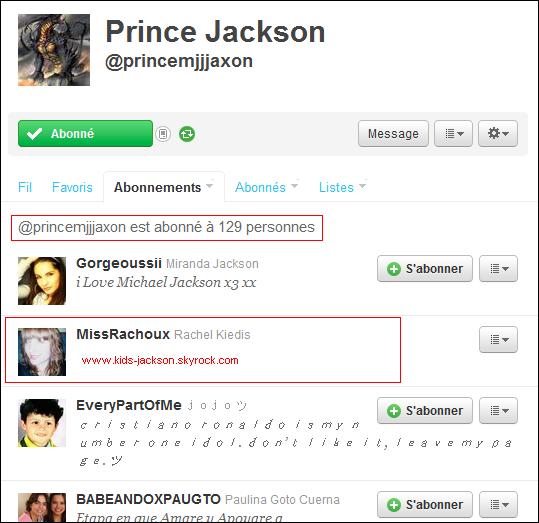* Prince à rejoins le monde de twitter ainsi que sa soeur Paris, et se ne sont pas des FAKE !*