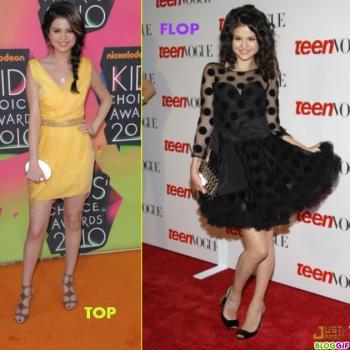 Le Top et Flop de Selena Gomez . Votre Avis ???