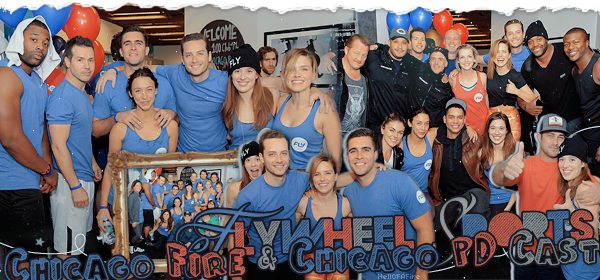 ♦ HellOfAFire.skyrock.com _______   « 04 octobre : Chicago Fire And Chicago PD Cast At Flywheel Sports  » → Création Décoration Texte