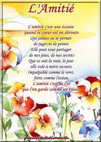 Pris Chez Mon Amie Nathalie Un Joli Poeme Sur L Amitie