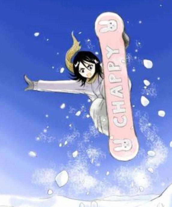 Rukia au ski