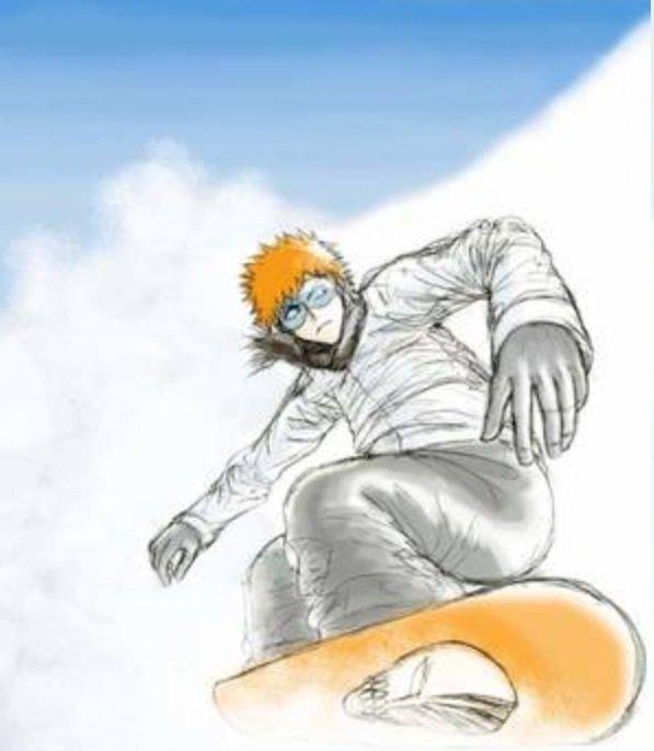 Ichigo au ski