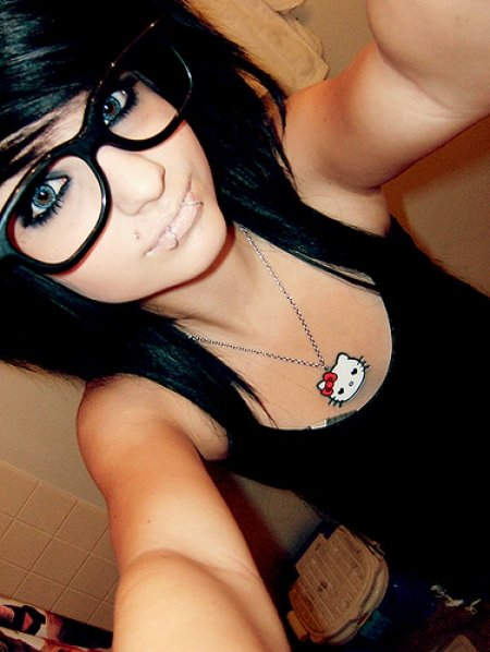 Emo Girl with Glasses