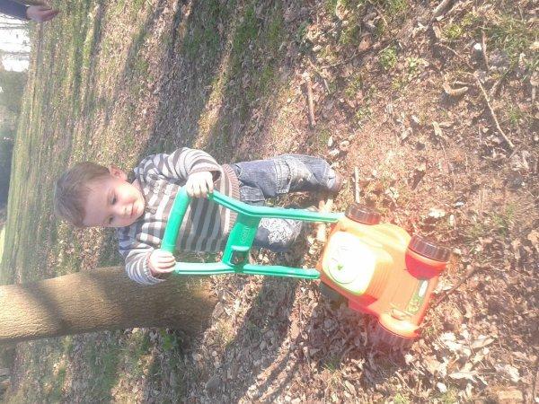 Sortie avec mon fils au  rocher de cheffois