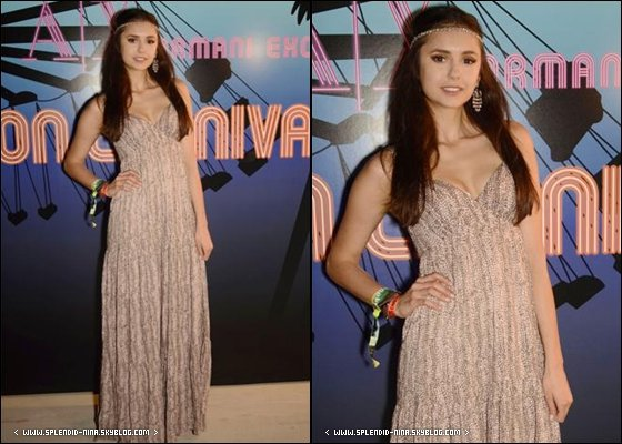 """16/04/11 - Nina était présente à la fête du magazine Neon qui à été organisée durant la première journée du festival """"Coachella"""" à Indo, en Californie."""