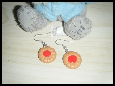 Boucles Biscuit à la fraise