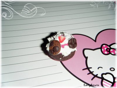 Pendentif Cupcake Chantilly