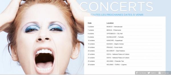 date des prochains concerts de Lara Fabian