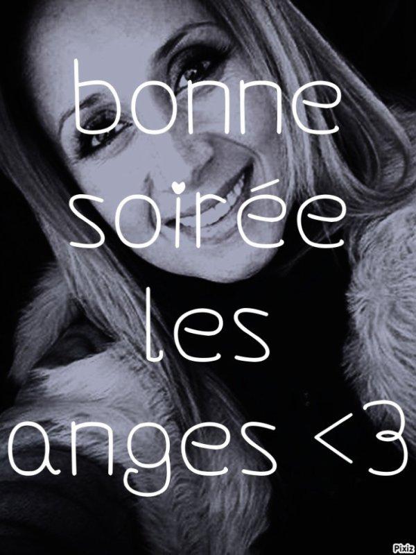 bonne soirée les anges <3