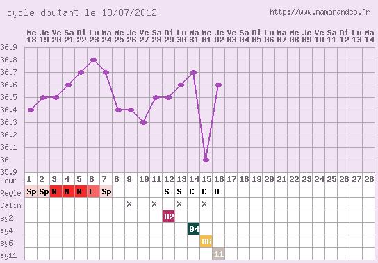 ma  courbe de température