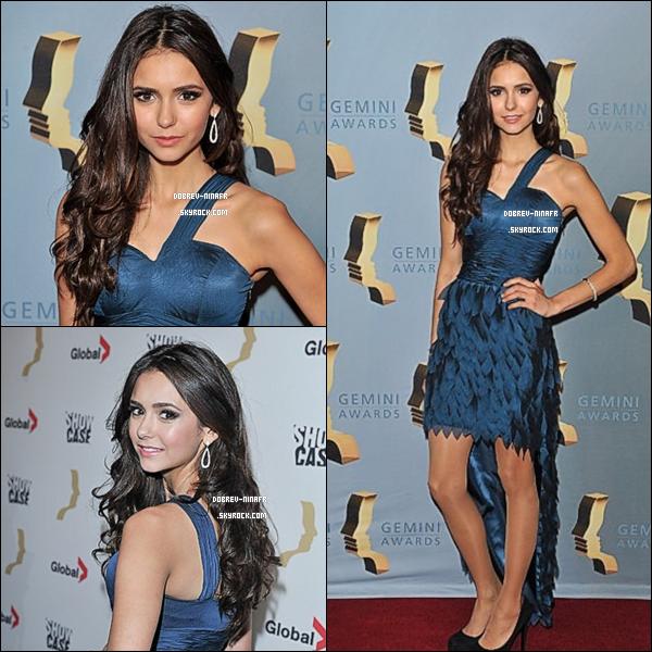 .  13Novembre 2010 :Nina était présente à l'événement du 25éme annuel Gemini Awards Cette robe Bleue lui va à merveille ! Top ,et toi ?  .
