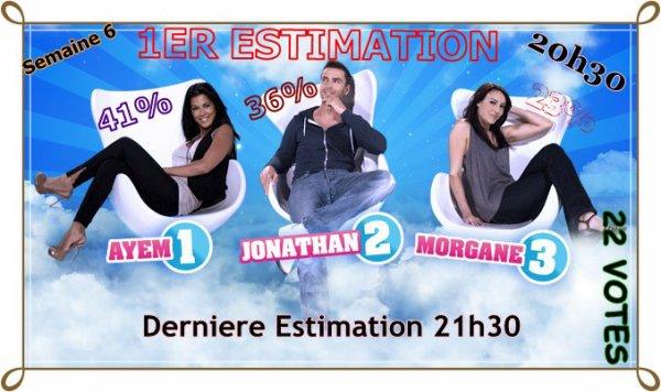 1er ESTIMATION : Ayem / Jonathan / Morgane ((Semaine 5))