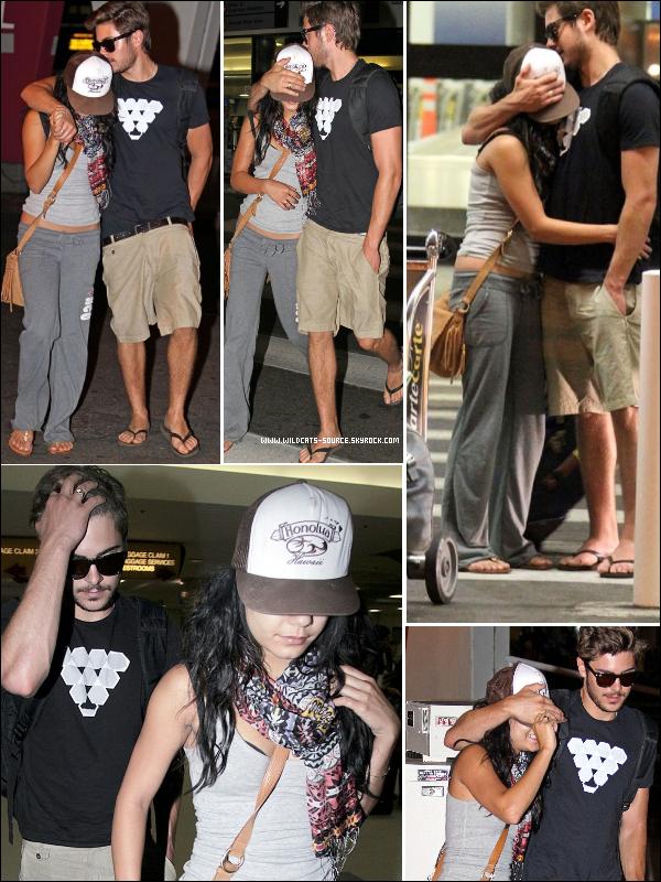 Zac Efron & Vanessa Hudgens de retour à L.A après des vacances de rêve dans HAWAÏ. (voir article ); (voir article )