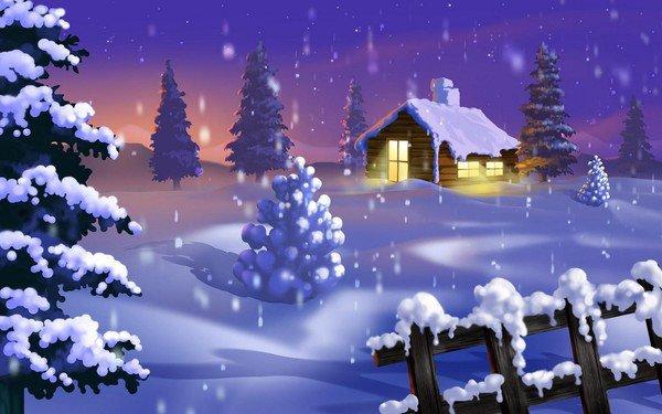 des flocons de neige...