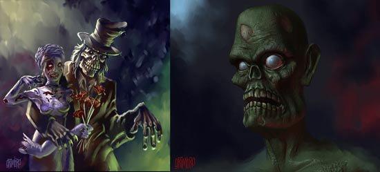 voici un défilé de  zombie