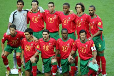 L'équipe du Portugal: